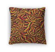 Throw Pillow, Abstract German Flag Abstract Colorful Graphic Pattern Handdrawn Ornament Of