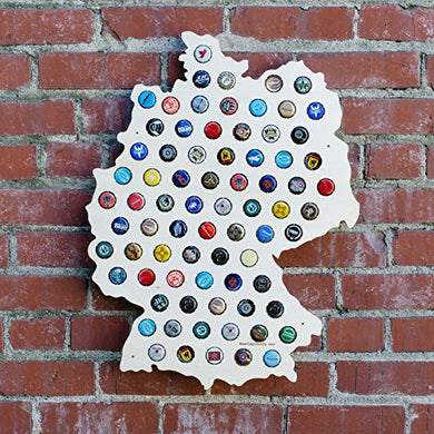 Germany Beer Cap Map - Craft Beer Bottle Cap Holder - Beer Cap Collector