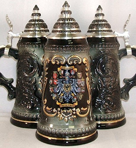 Black 16 German States Shields German Beer Stein .5L ONE Mug Made in Germany New
