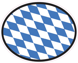 Bavarian Flag Oval Vinyl Decal