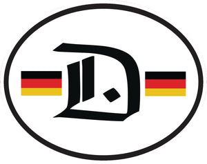 Deutschland Oval Vinyl Decal