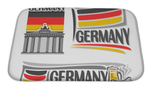 Bath Mat, German Flag Illustration