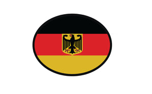 German Flag With Eagle Oval Decal