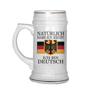 Of Course I'm Right, Im German Beer Stein