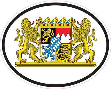 Bavaria Coat Of Arms Oval Vinyl Decal
