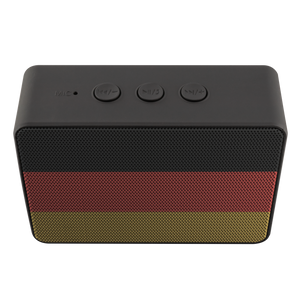 German Flag Bluetooth Speaker With Built In Subwoofer!
