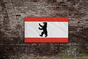 Berlin Flag Hanging On Wall