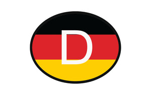 Deutschland Flag Oval Vinyl Decal