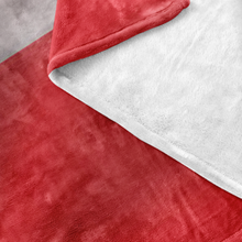 Canada-Germany Flag Fleece Blanket Close Up