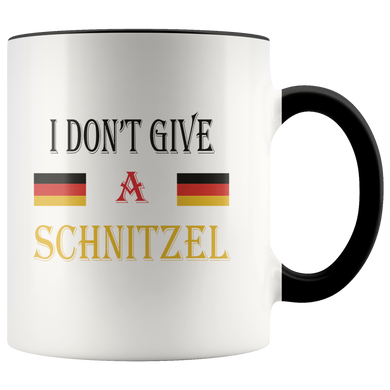 I Don't Give A Schnitzel Accent Mug