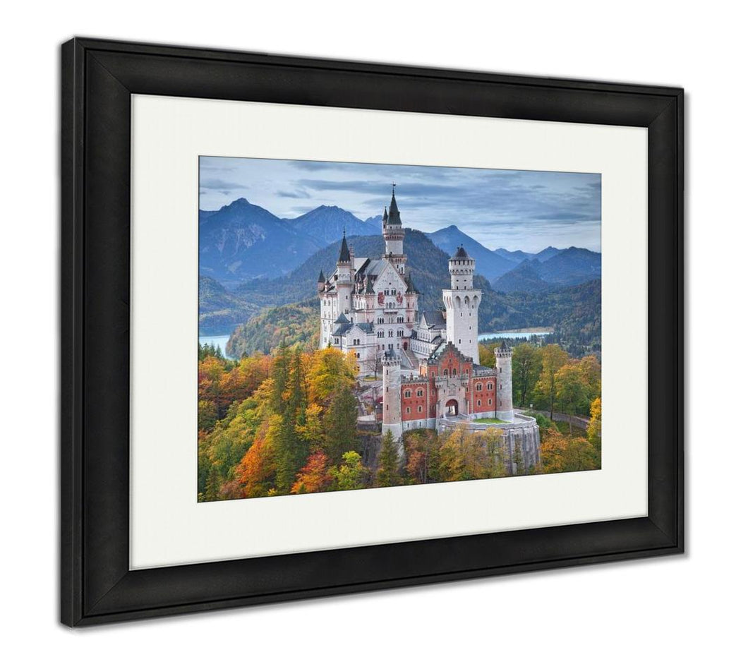 Framed Print, Neuschwanstein Castle Germany