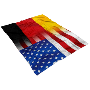 German-USA Flag Fleece Blanket