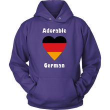 Adorable German! Heart Hoodie - Purple