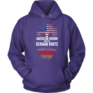 American Grown With German Roots Hoodie Purple