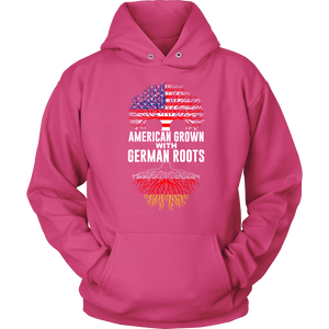 American Grown With German Roots Hoodie Pink