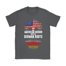 American Grown With German Roots T-Shirt Grey
