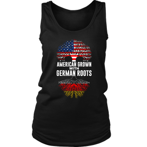 American Grown With German Roots Tank Top Black