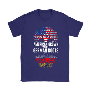American Grown With German Roots T-Shirt Purple