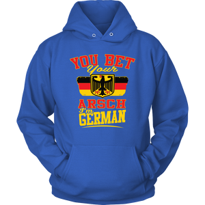 You Bet Your Arsch I'm German! Blue Hoodie