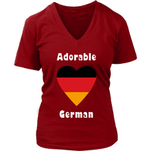 Adorable German! Heart T-Shirt Red