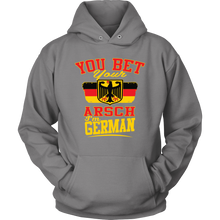 You Bet Your Arsch I'm German! Grey Hoodie