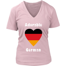 Adorable German! Heart T-Shirt Light Pink