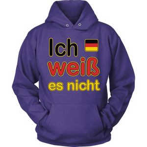 """I Don't Know"" It's German Purple Hoodie"