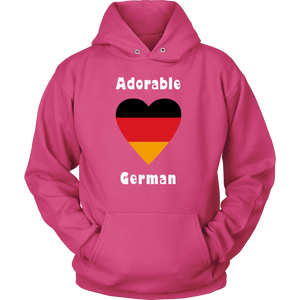 Adorable German! Heart Hoodie - Pink