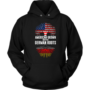 American Grown With German Roots Hoodie Black