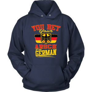 You Bet Your Arsch I'm German! Navy Hoodie