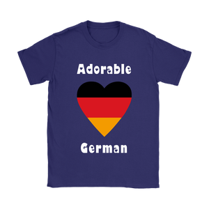 Adorable German! Heart Shirt - Purple