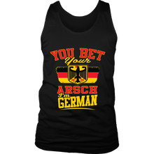 You Bet Your Arsch I'm German! Black Tank Top