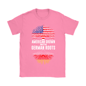 American Grown With German Roots T-Shirt Pink
