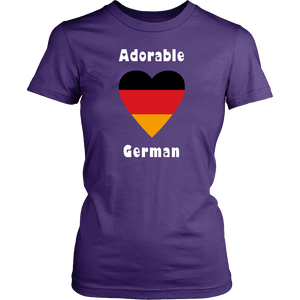 Adorable German! Heart T-Shirt - Purple