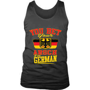 You Bet Your Arsch I'm German! Grey Tank Top