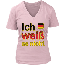 """I Don't Know"" It's German Pink T-Shirt"