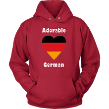 Adorable German! Heart Hoodie - Red