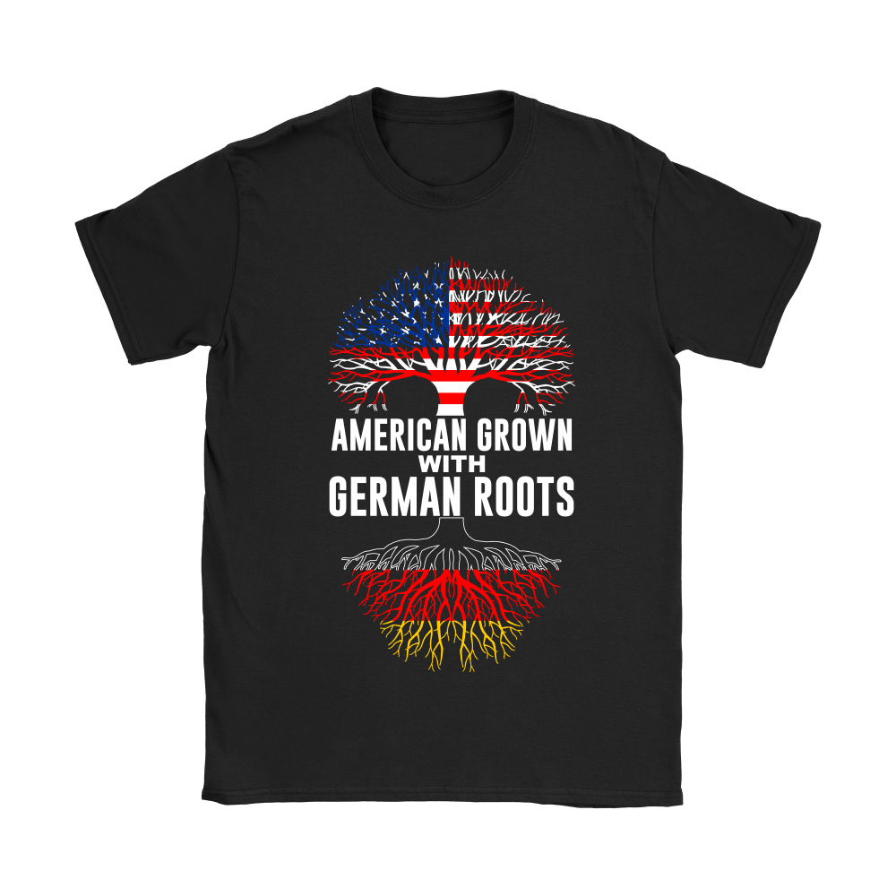 American Grown With German Roots T-Shirt Black