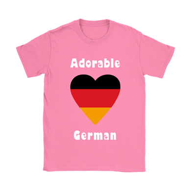 Adorable German! Heart Shirt - Pink