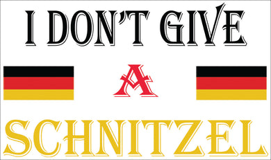 I Don't Give A Schnitzel Decal