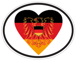 German Heart & Eagle Decal