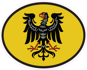 Traditional German Eagle Oval Decal