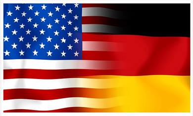 USA/Germany Flag Decal