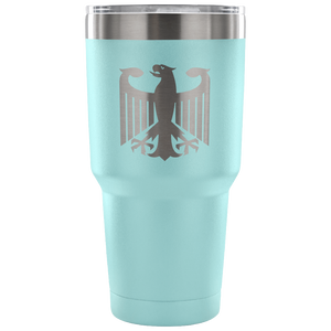 German Eagle Etched Powder Coated Tumbler