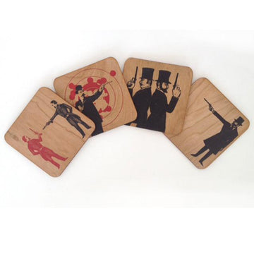 Coaster Set- Gun men