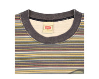 Vintage 90s Levis Clothing Tag on a Striped T-Shirt
