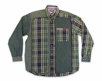 90's Tommy Jeans Multi Plaid Vintage Oxford Shirt