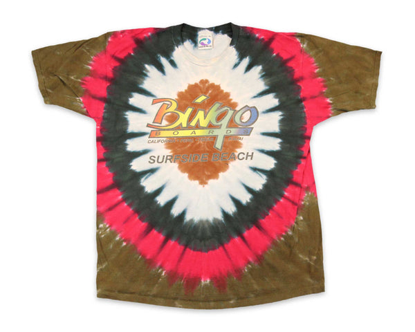 Vintage 90s Bingo Boards Liquid Blue Tie Dye T-Shirt | REVIVAL Clothing