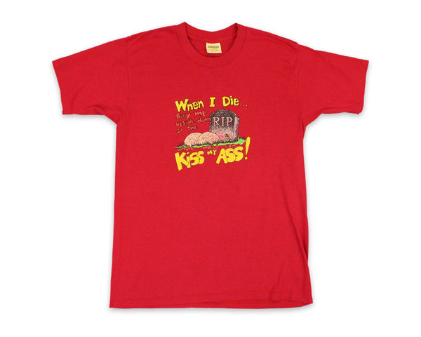 Vintage 80s Kiss My Ass Funny T-Shirt │ REVIVAL Clothing