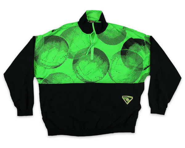 Vintage 90s Neon Volleyball Pullover Jacket | REVIVAL Clothing